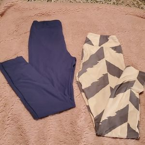 (2) pair Lularoe leggings